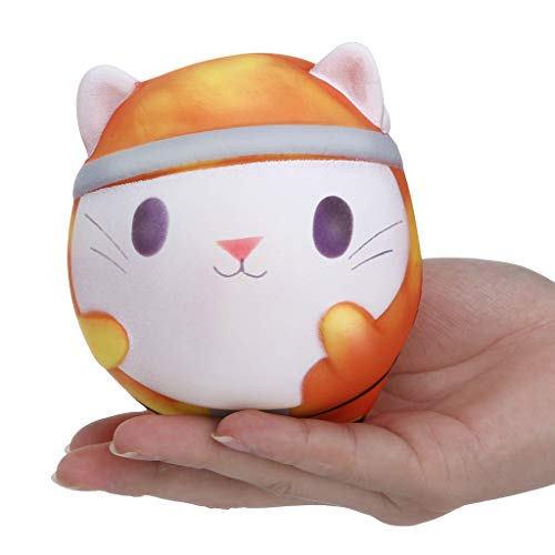 Mikilon Slow Rising Squishy, Color Change by Temperature Cat Squishy Toy, Sweet Scented Vent Charms Toy Cute Kid Toy Hand Toy, Lovely Stress Relief Toy , Decorative Props -
