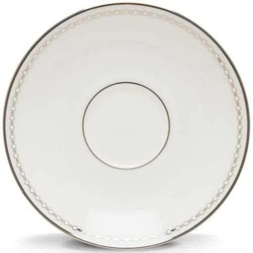 Lenox Pearl Platinum Bone China Saucer (China Platinum Teacup)