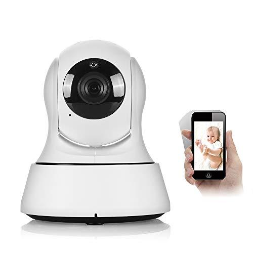 (Jenify Home Baby Monitor Camera Video Wi-Fi Wireless Mini Network Camera Surveillance 720P Night Vision)