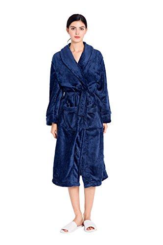 Cheap Like2Sea Fleece Robe For Women, Soft Long Btahrobe free shipping