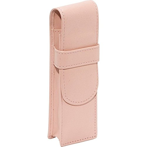 [Royce Leather Genuine Leather Double Pen Case Holder (Pink)] (4 Cp Double Handle)