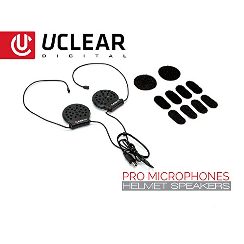 UCLEAR Digital Pro Microphone Helmet Speaker Set for UCLEAR Digital Bluetooth Helmet Audio Systems