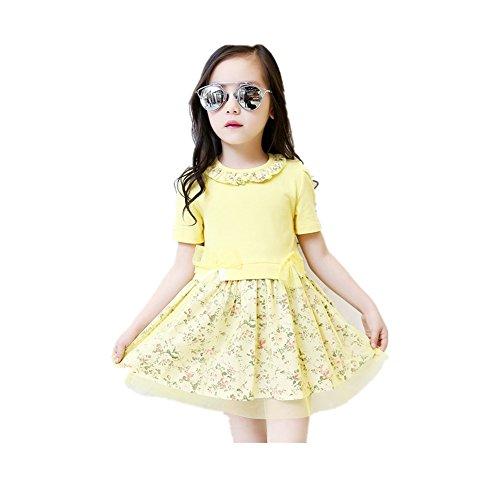 ftsucq-girls-floral-printed-short-sleeve-princess-dressyellow-120