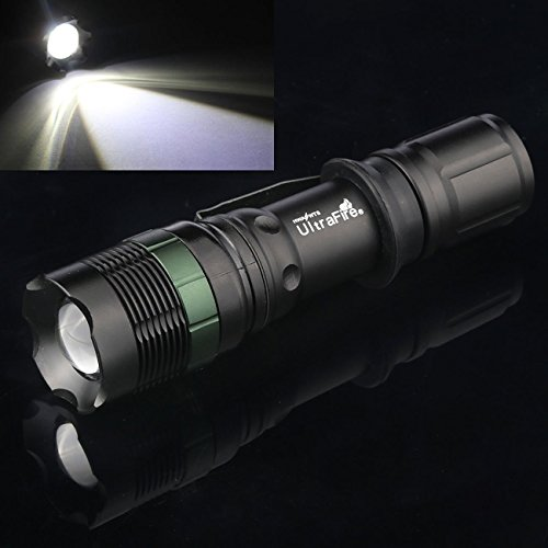 5000Lumen Tactical Flashlight Zoomable Battery