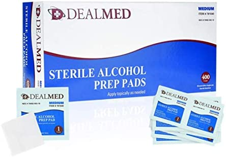 Dealmed Alcohol Prep Pads, Individually Wrapped, Latex-Free, Disposable Pads, 4000/Case 41lc1XjHivL