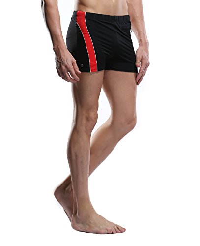 CharmLeaks Mens Jammer Short Swimwear Trunks Swimsuits Mens Short Swimwear Trunks Red Swimsuit for Men 3XL