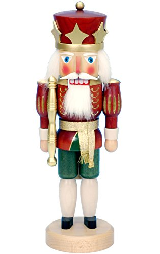 32-532 - Christian Ulbricht Nutcracker - Red King - 15''''H x 5.5''''W x 5''''D by Alexander Taron Importer