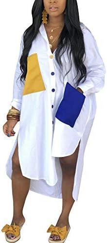 Womens T Shirt Button Blouse Dresses product image