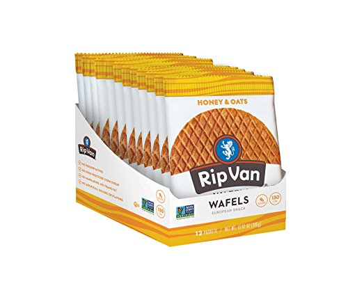 Rip Van Wafels Snack Wafels, Honey and Oats, 12 Count, 13.92 OZ