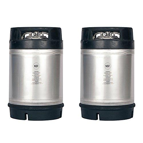 Two New 2.5 Gallon Ball Lock Kegs - Dual Rubber Handles + Free O-Ring -