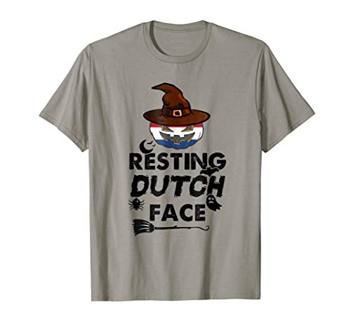 Resting Dutch Face T-shirt Netherlands Home Gifts October 31