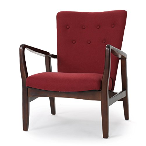Suffolk French Style Fabric Arm Chair (Deep Red)