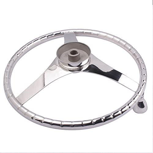 M-ARINE BABY SPORTS STEERING WHEEL 13-1//2 with KNOB and PRESSED FINGER GRIP for BETTER CONTROL /& EYE CATCHING STYLE Fits 3//4 Shaft RIM Size 7//8 Suit Boats /& Yacht