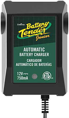 Battery Tender 021-0123 Battery Tender Junior 12V, 0.75A Battery Charger will charge and maintain your battery so that it is ready to go when you are! It's lightweight, fully automatic and easy to use