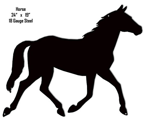 Galloping Horse Silhouette Laser Cut Out Metal Sign - Horse Silhouette Metal