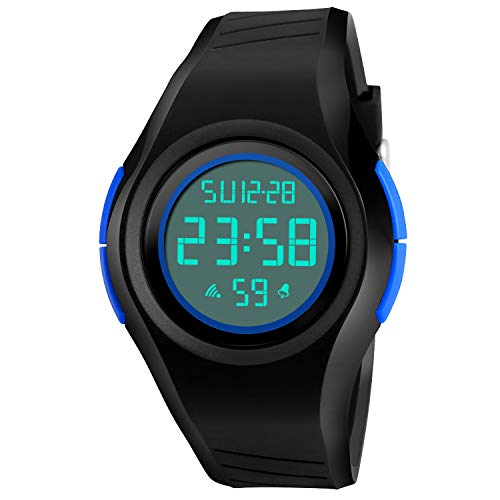(Kid Watch Sport LED Alarm Stopwatch Digital Child Quartz Wristwatch for Boy Girl)