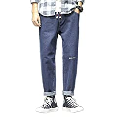 Colour:dark Blue       Pants: jeans       Crowd: man       Elasticity: microelastic       Style: casual / loose printing       Suitable for the season: spring and autumn       Main fabric components: 62.5% cotton 20.3% polyester fiber,...