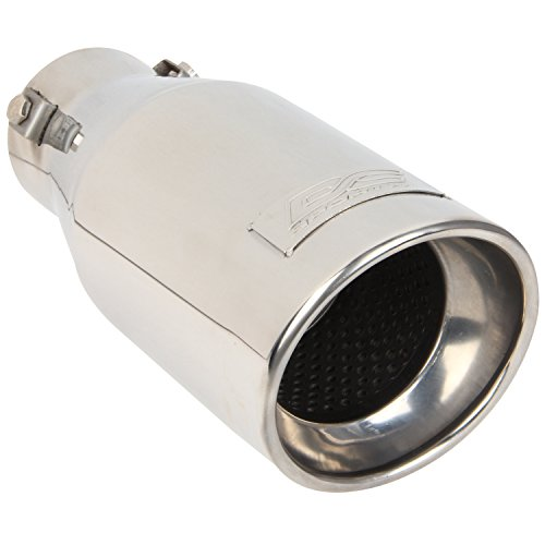 DC Sport EX-1012 Stainless Steel Resonated Slant Cut Bolt-on Exhaust - Slant Tip Cut Exhaust