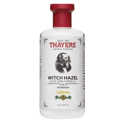 Thayers Witch Hazel Astringent with Aloe Vera Formula, Lemon, 12 Fluid Ounce (Pack of 2) ()