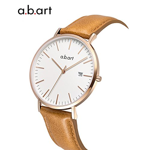 a.b.art FB36-000-3L Analog Leather Strap Rose Gold Case LadyWatch (watches Brown) by a.b.art (Image #4)