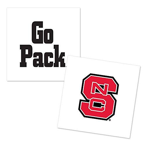 WinCraft NCAA North Carolina State University Tattoo (4 Pack), Black (Accessories Ncaa Jewelry)