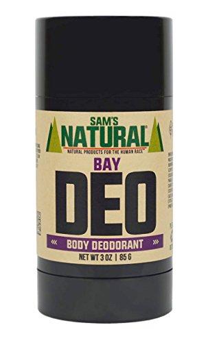 - Sam's Natural Deodorant Stick - Bay, Aluminum Free, Vegan, Cruelty Free, 3 oz