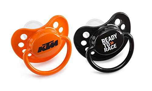 NEW KTM DUMMY BABY SILENCERS PACIFIERS 2017 SX SXF SXS XC XCF EXC 3 MONTHS OR OLDER (Ktm Accessories)