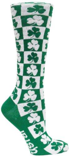 Ireland Checkerboard Dress - White Ireland Donegal Bay Socks