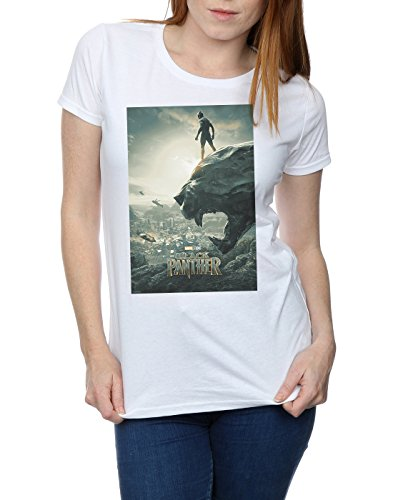 Panther shirt Marvel Absolute Poster Cult T Black Femme Blanc q0vIq