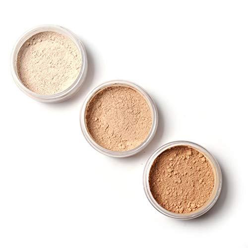 KOKOBUY Women Face Cosmetic Beauty Powder Loose Powder Waterproof Skin Finish Powder Oil-absorbing Powder