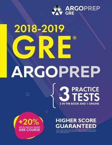 GRE by ArgoPrep: GRE Prep 2018 + 14 Days Online Comprehensive Prep Included + Videos + Practice Tests | GRE Book 2018-2019 | GRE Prep by ArgoPrep
