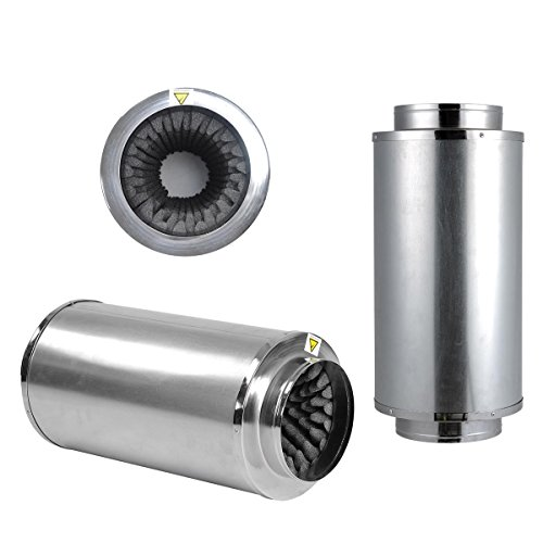 TopoLite 8″ Duct Muffler for Grow Tent Exhaust Kit and Hydroponic Growing System