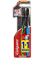 Colgate Mikro İnce Siyah Diş Fırçası Yumuşak 1+1 1 Paket