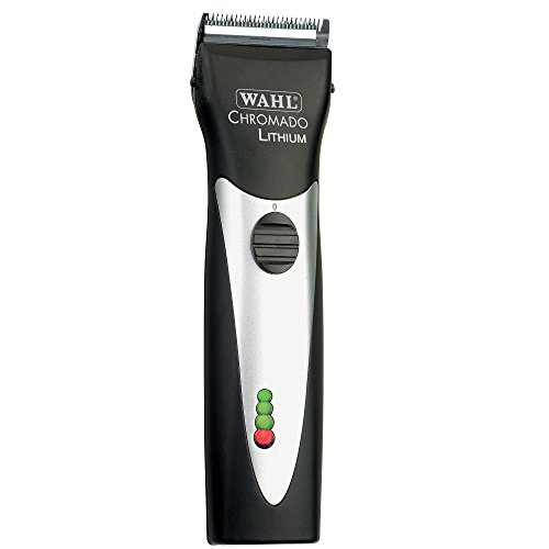 Wahl Professional Animal Chromado Lithium Pet, Dog, Cat, & Horse Corded/ Cordless Clipper Kit, Black & Silver (#41871-0434)