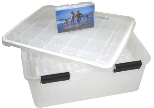 "UPC 762016932132, Set of IRIS WEATHERTIGHT Storage Box with 28 4"" x 6"" Small Photo Cases - set of 28"