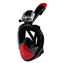 Gonezon 180¡ãFull Face Snorkel Mask Set with Easy Breath for Anti-fog Diving.No Leaking with Snorkeling Sports Aquatics Mask.Large View Field.Durable Medical Silicone to Fit Various People