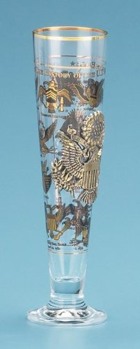 History of American Eagle German Glass Beer - Beer History Stein