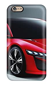 New Arrival Cover Case With Nice Design For Iphone 6- Two Door Red Car On Gray