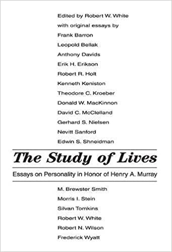 the study of lives essays on personality in honor of henry a the study of lives essays on personality in honor of henry a murray robert white 9780202308999 com books