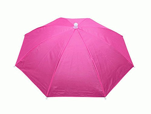 Crazy Cart Golf Fishing Camping Novelty Headwear Cap Umbrella Hat Rose for Adults Kids ()
