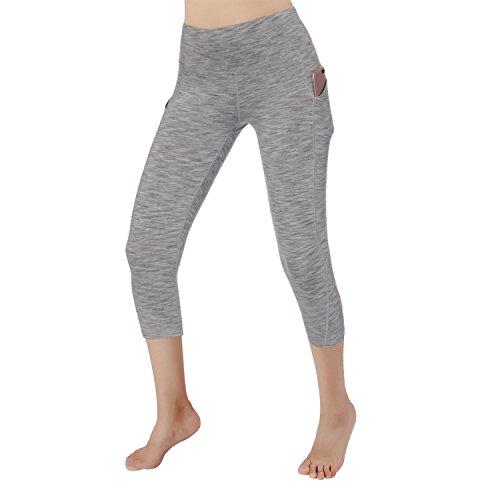RURING Women's High Waist Yoga Pants Tummy Control 4 Way Stretch Running Pants Workout Leggings ()