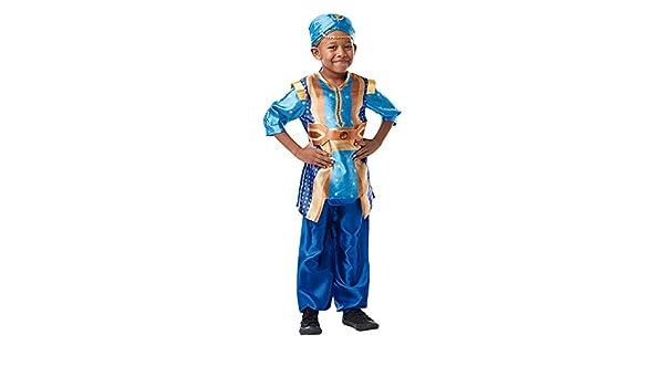 DISBACANAL Disfraz Genio Aladdín para niño - -, 5-6 años: Amazon ...