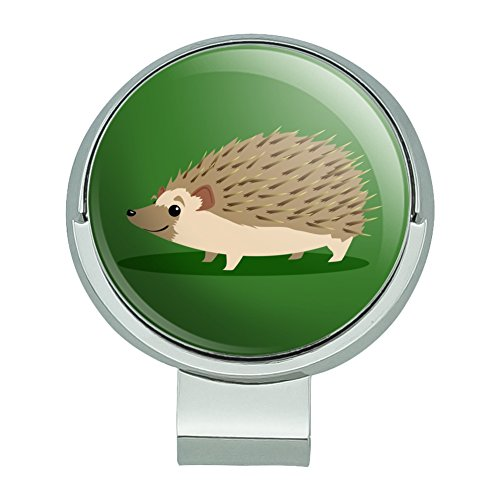 GRAPHICS & MORE Hedgehog on Green Golf Hat Clip with Magnetic Ball Marker ()