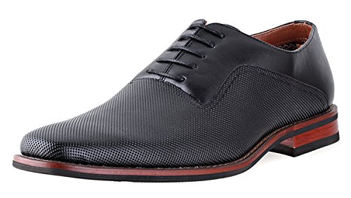 Ferro Aldo Mens Lalo Oxford Dress Shoes | Comfortable Dress Shoes | Formal | Lace-up | Classic Design | Black 8.5