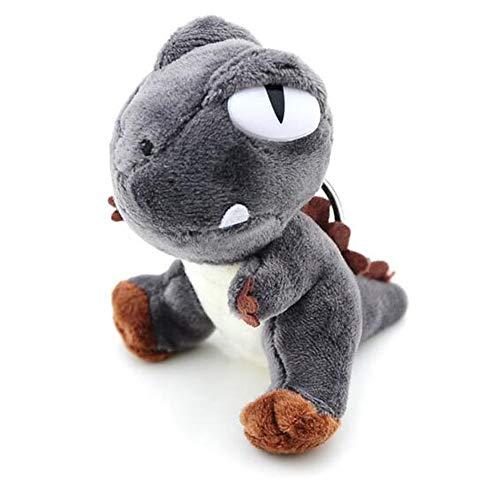 LApapaye Mini Dinosaur Keychain Stuffed Animal Plush Toy Gift for Kids Girlfriend Children,10cm (Grey) (Plush Bear Keychain 4')
