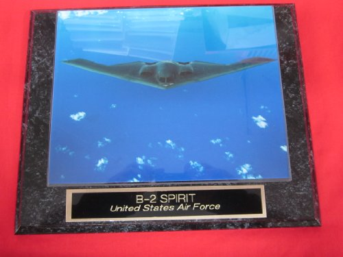 US Air Force B2 STEALTH BOMBER Collector Plaque w/8x10 Photo! - Air Force Memorabilia