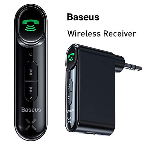Headphones and Other Audio Equipment Car Wireless Receiver AICase Portable Bluetooth 5.0 Receiver Audio Adapter 3.5mm with Built-in Microphone for AUX Car Speakers
