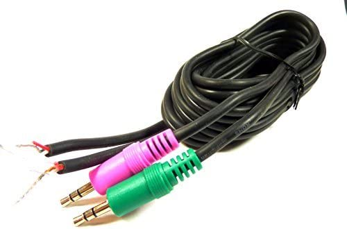 Philmore 7 Shielded Audio Cable with Dual 3.5mm 1//8 Stereo Male Plugs to Bare Wire; 44-291