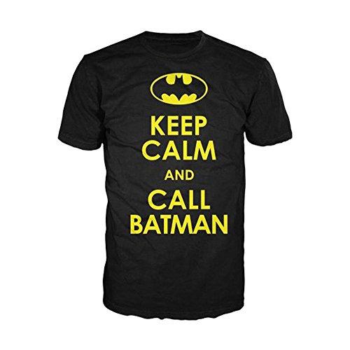 Batman Keep Calm and Call Batman Adult T-Shirt - Black