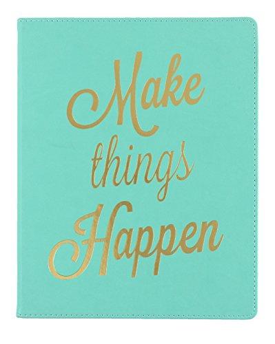 """Eccolo World Traveler 8"""" x 10"""" Desk Journal, Make Things Happen (D505M)"""